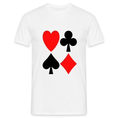 Kartenblatt - Männer T-Shirt