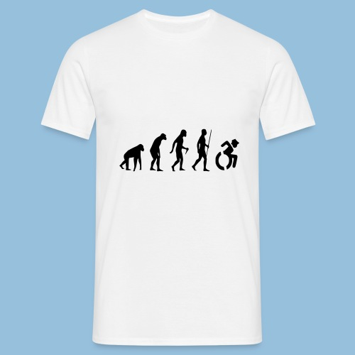 EvolutionWheelchair2 - Mannen T-shirt