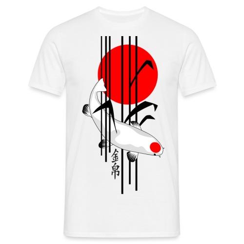 Bamboo Design - Nishikigoi - Koi Fish 5 - Männer T-Shirt