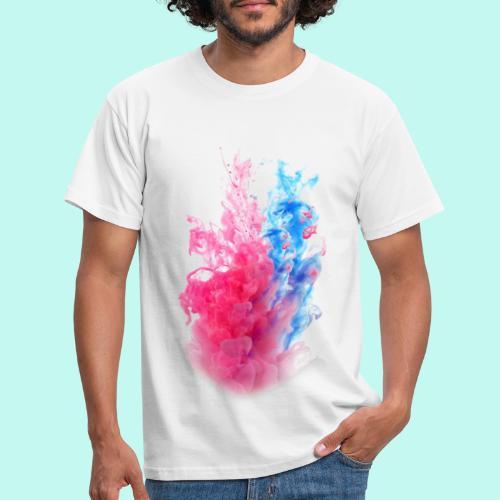 Pink & Blau - Männer T-Shirt
