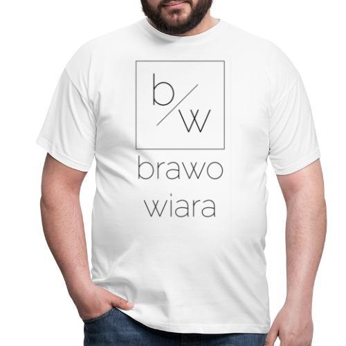 brawo wiara napis czarny - Koszulka męska