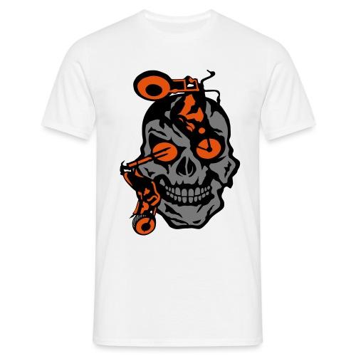 tete mort moto motrocycle oeil skull - T-shirt Homme