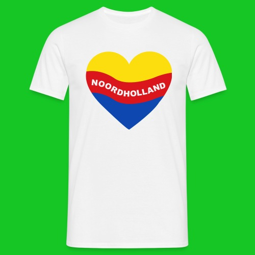 Love Noord Holland Hart.png - Mannen T-shirt