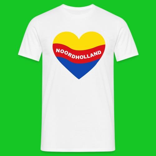 Love Noord Holland Hart.png - Mannen T-shirt