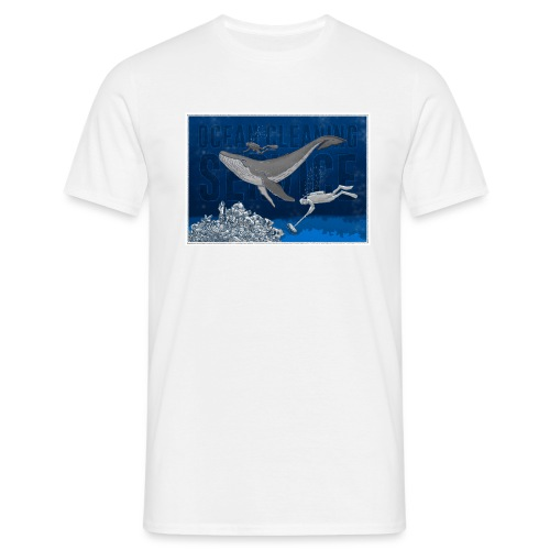 Ocean cleaning service. bluecontest - Herre-T-shirt