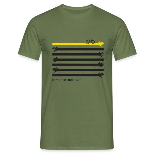 BCL Black Hands One Yellow - Men's T-Shirt
