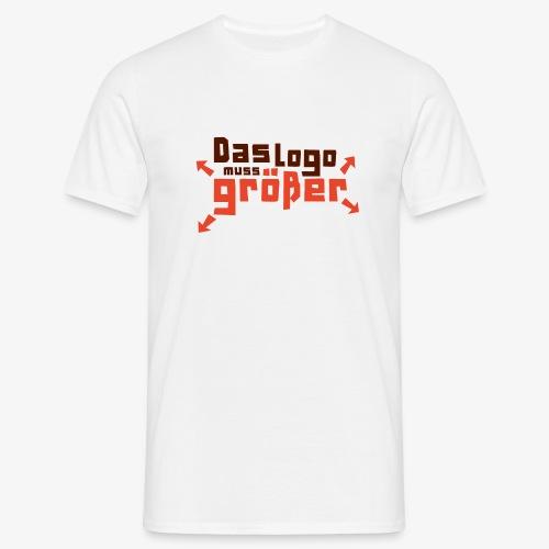 daslogomussgroesser 4C 01 png - Männer T-Shirt