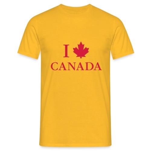 I love Canada Ahornblatt Kanada Vancouver Ottawa - Männer T-Shirt