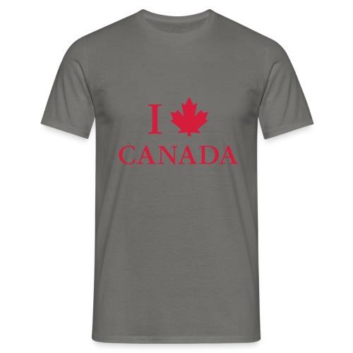 I love Canada Ahornblatt Kanada Vancouver Ottawa - Men's T-Shirt