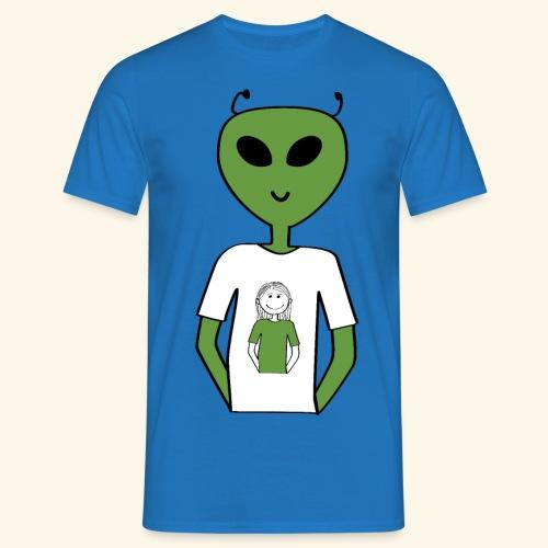 Alien human T-shirt T-shirt - T-shirt herr