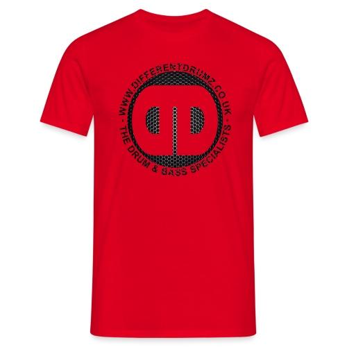 ddz honeycomb logo2 - Men's T-Shirt