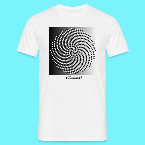 Fibonacci spiral pattern in black and white - Men's T-Shirt