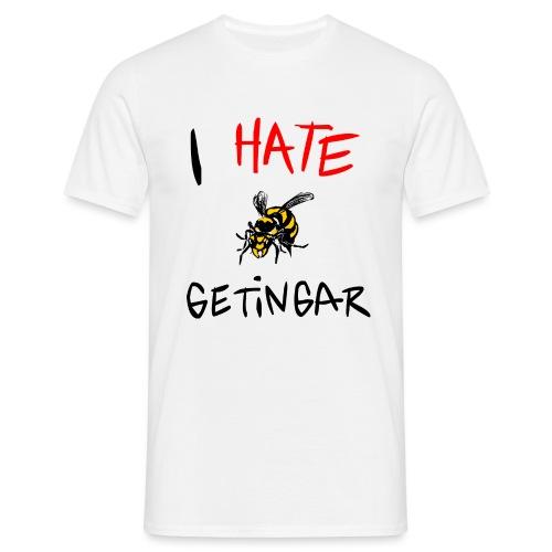I hate getingar - T-shirt herr