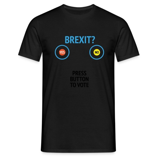 Brexit: Press Button To Vote - Herre-T-shirt