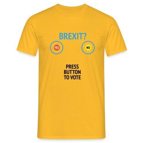 Brexit: Press Button To Vote - Herre-T-shirt