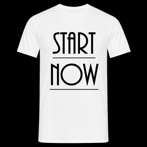 start now - Männer T-Shirt