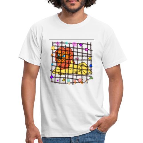 Lion dans son cage - T-shirt Homme
