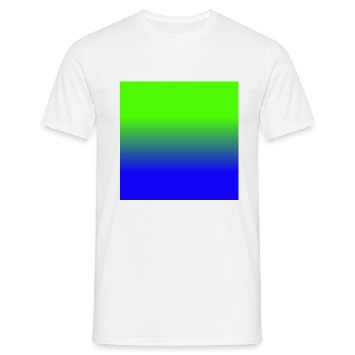 Linear pattern of green and blue - Men's T-Shirt