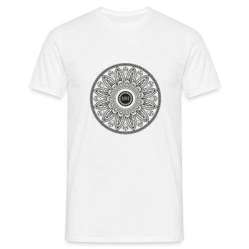 Mandala mit Schriftzug Love - Männer T-Shirt
