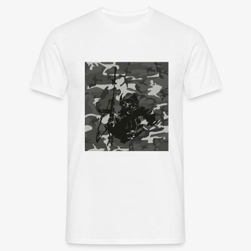 camuflaje con soldado - Camiseta hombre