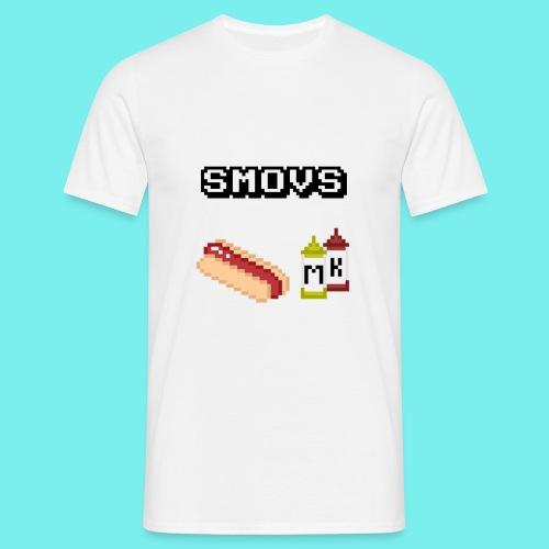 Smovs pixel hotdog - Herre-T-shirt