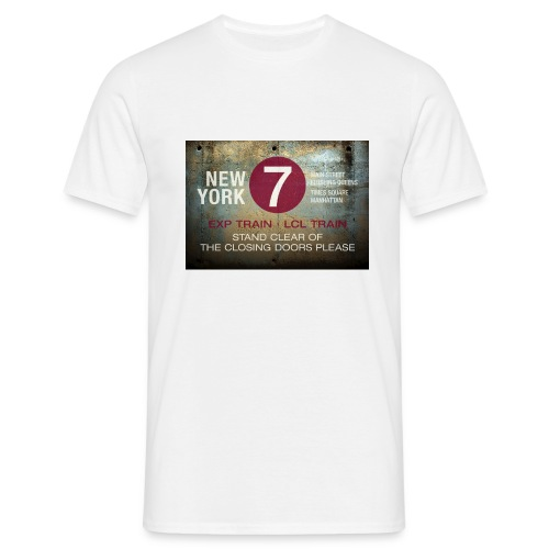 NYC subway stand clear of the closing doors please - Men's T-Shirt