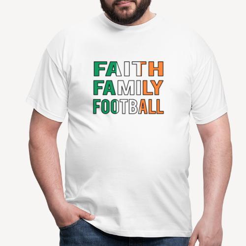 FAITH FAMILY FOOTBALL - Men's T-Shirt