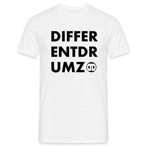 ddz words n logo black - Men's T-Shirt