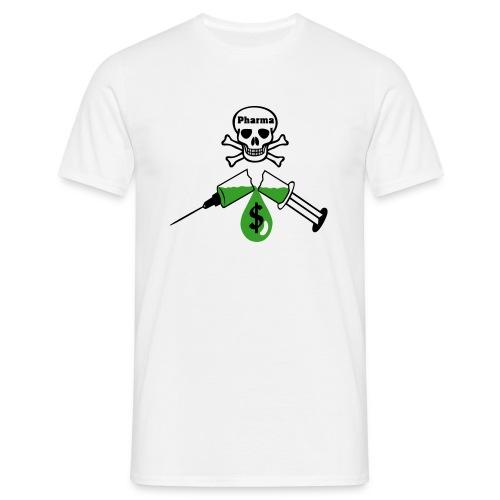 Pharma spritze - Männer T-Shirt