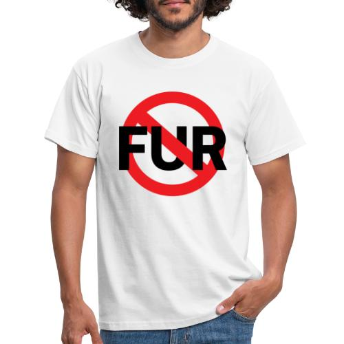 Fuck fur - T-shirt herr
