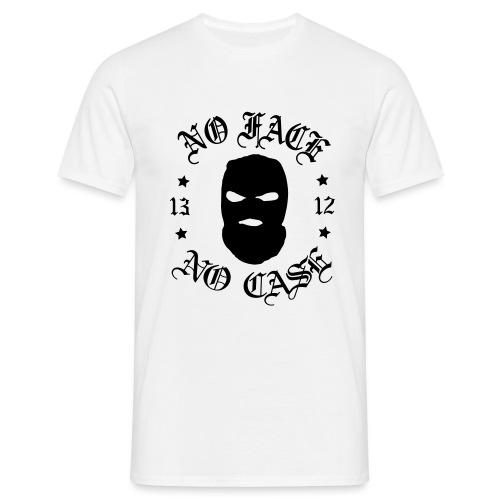 No Face, No Case - Skimask - musta printti - Miesten t-paita