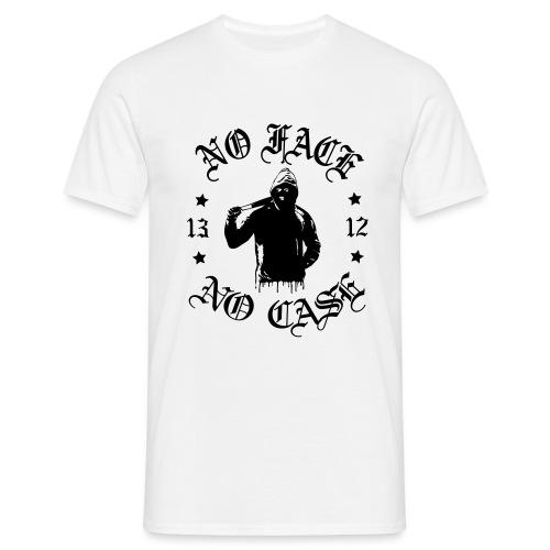 No Face, No Case - iso printti - Miesten t-paita