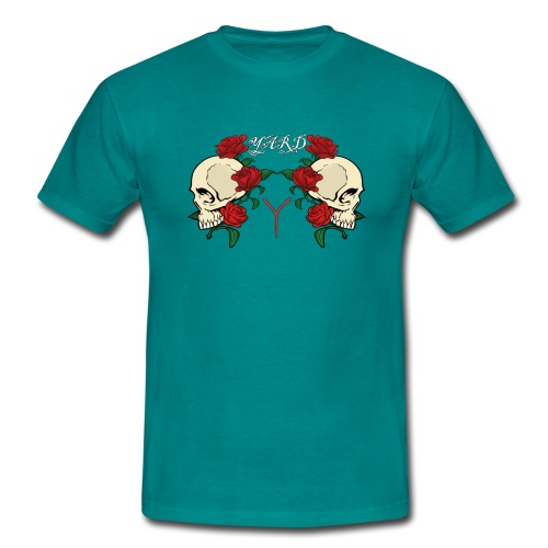 YARD skull and roses - Mannen T-shirt