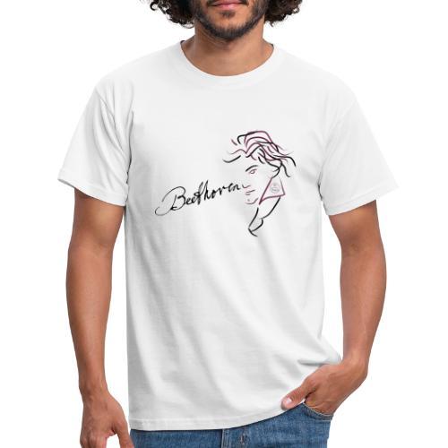 Beethoven (aubergine/schwarz) - Männer T-Shirt
