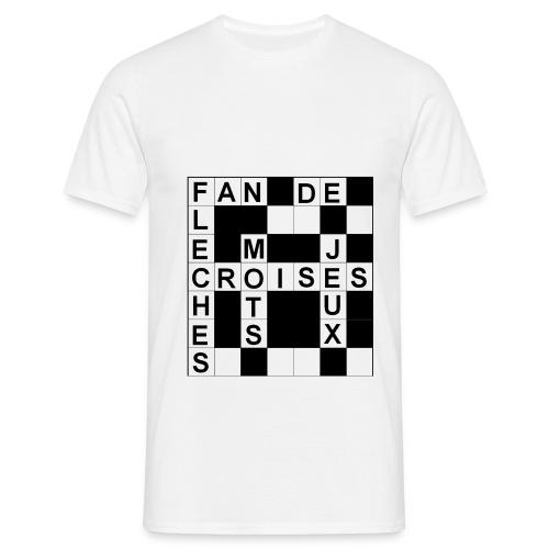 Fan de mots croisés - T-shirt Homme