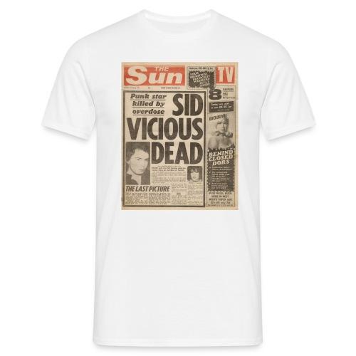 Sid Vicious Dead FP C - Men's T-Shirt