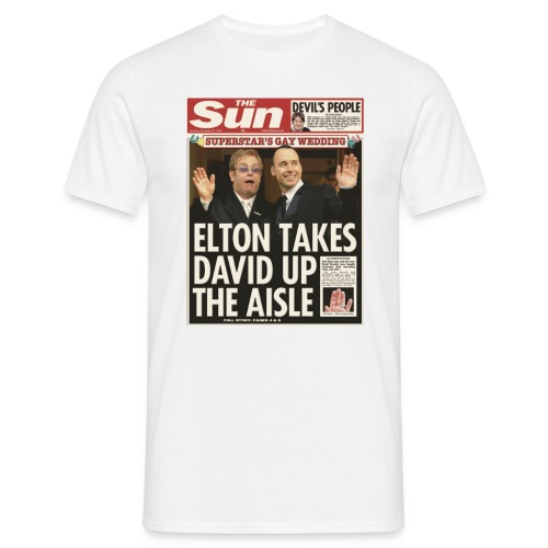 Elton Takes David Up The Aisle FP C - Men's T-Shirt