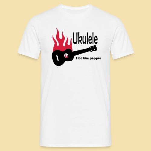 Ukulele Burning like pepper - Männer T-Shirt