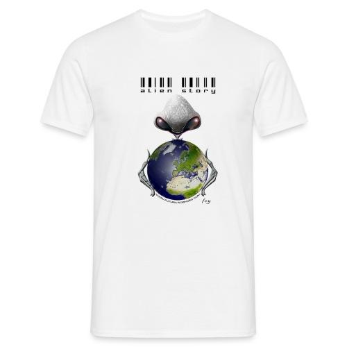 alien texte noir - T-shirt Homme