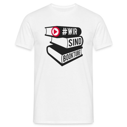 #wirsindbooktube Logo - Männer T-Shirt