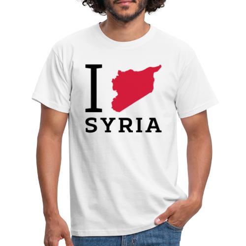 I love Syria - Mannen T-shirt
