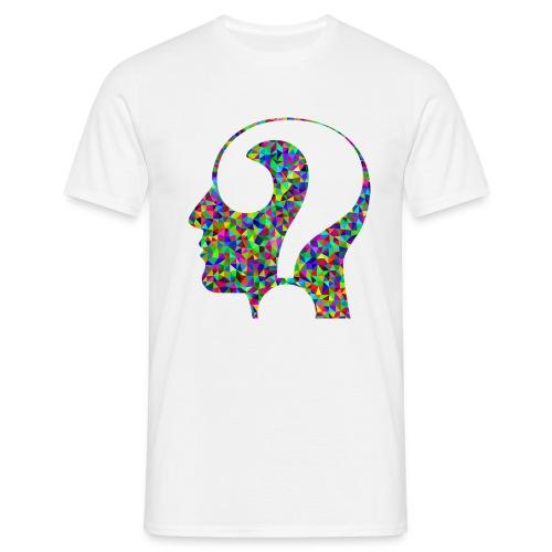 Fragender Kopf - Männer T-Shirt