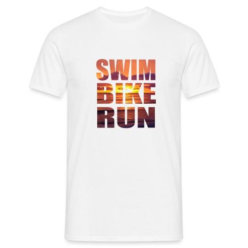 swim bike run @RUNNINGFORCE - Männer T-Shirt
