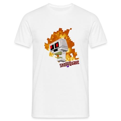 SnoWQuake skull logo - Men's T-Shirt