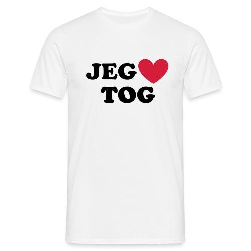 JEG ELSKER TOG - Herre-T-shirt