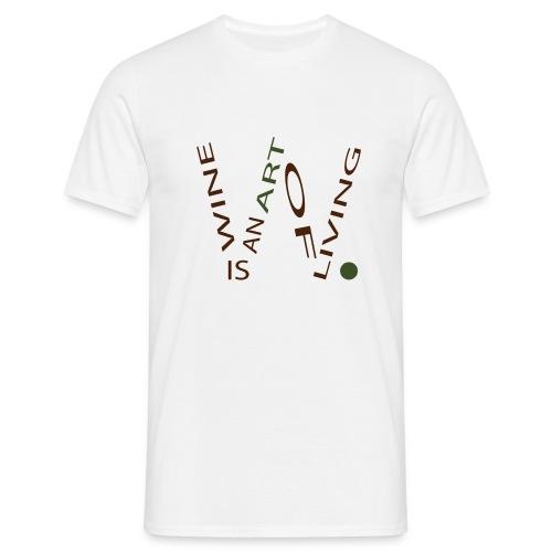 Wine is an Art - T-shirt Homme
