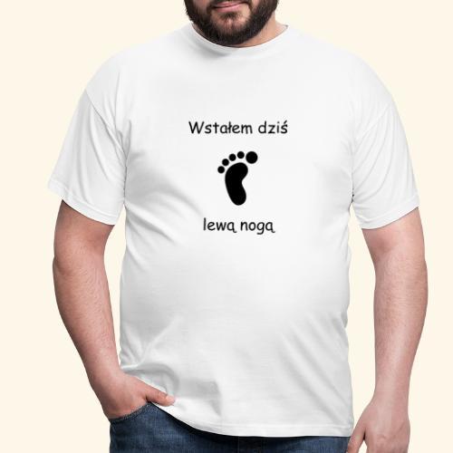 lewa noga - Koszulka męska