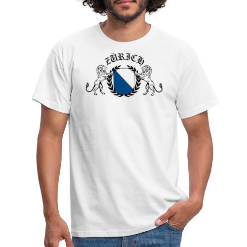 ZÜRICH LOGO FINAL BLCK new png - Männer T-Shirt
