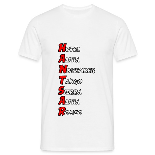 HANTSAR - Phonetic - Men's T-Shirt