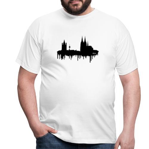 Skyline Köln - Schwarz - Männer T-Shirt